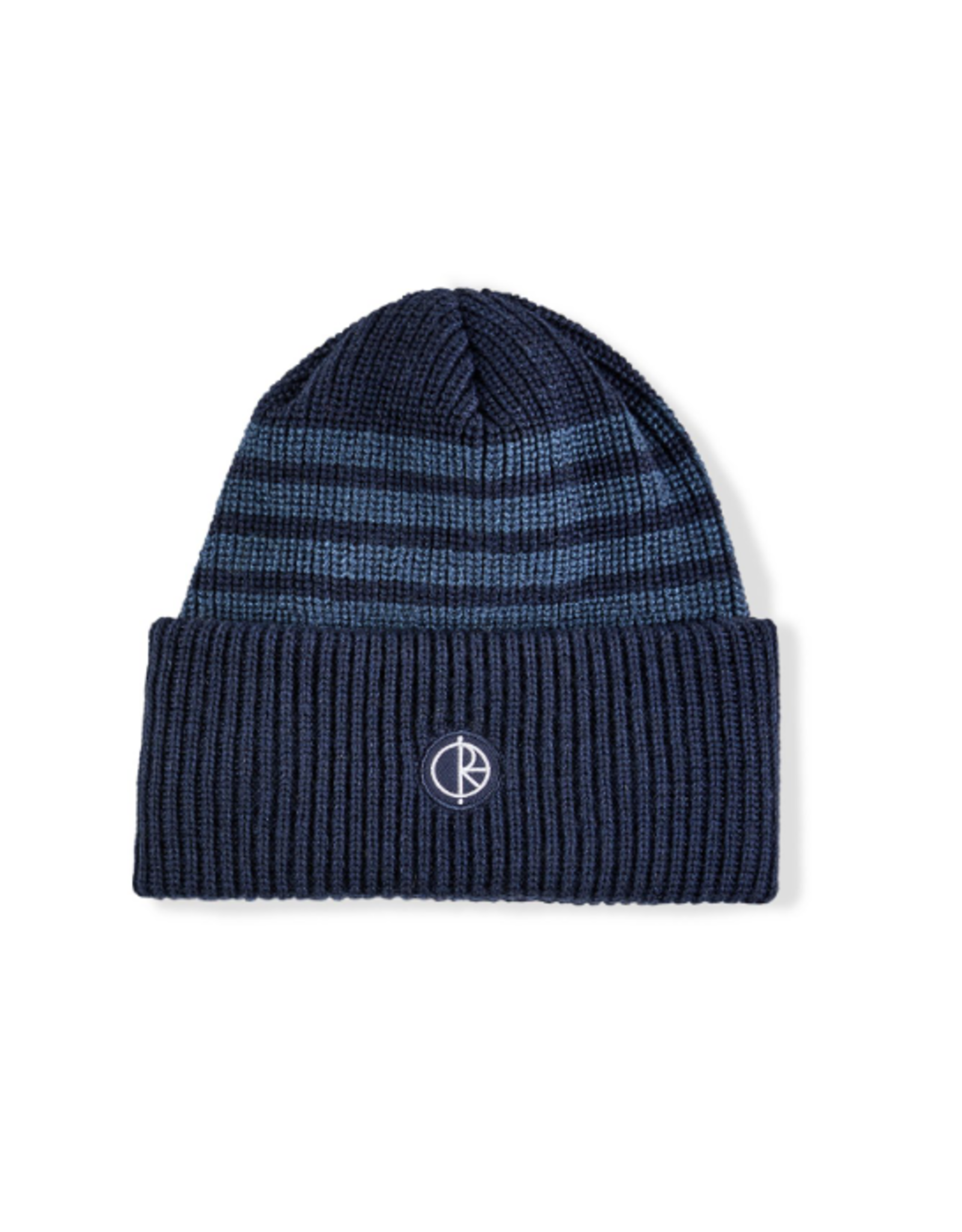 Polar Double Fold Merino Beanie - Navy Stripe