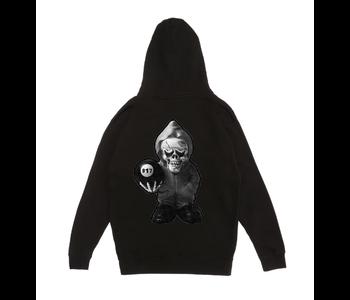 Skully Pullover Hood - Black