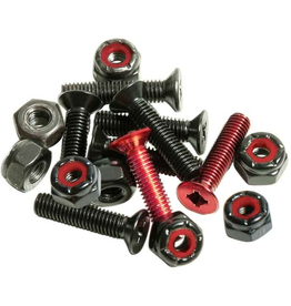 "Andale Combo Hardware 7/8"" - Red/Black"