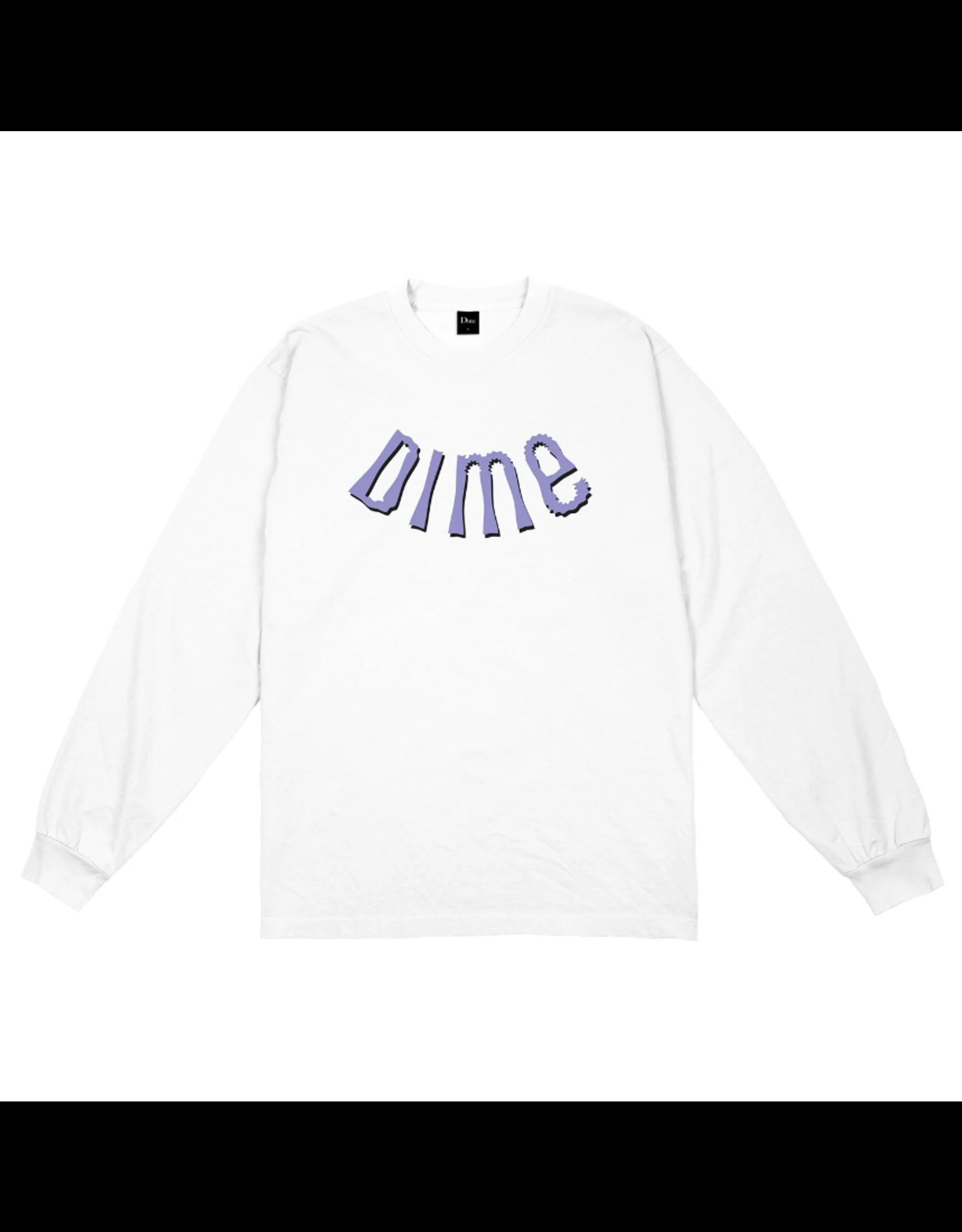 Dime Whirl L/S Shirt - White