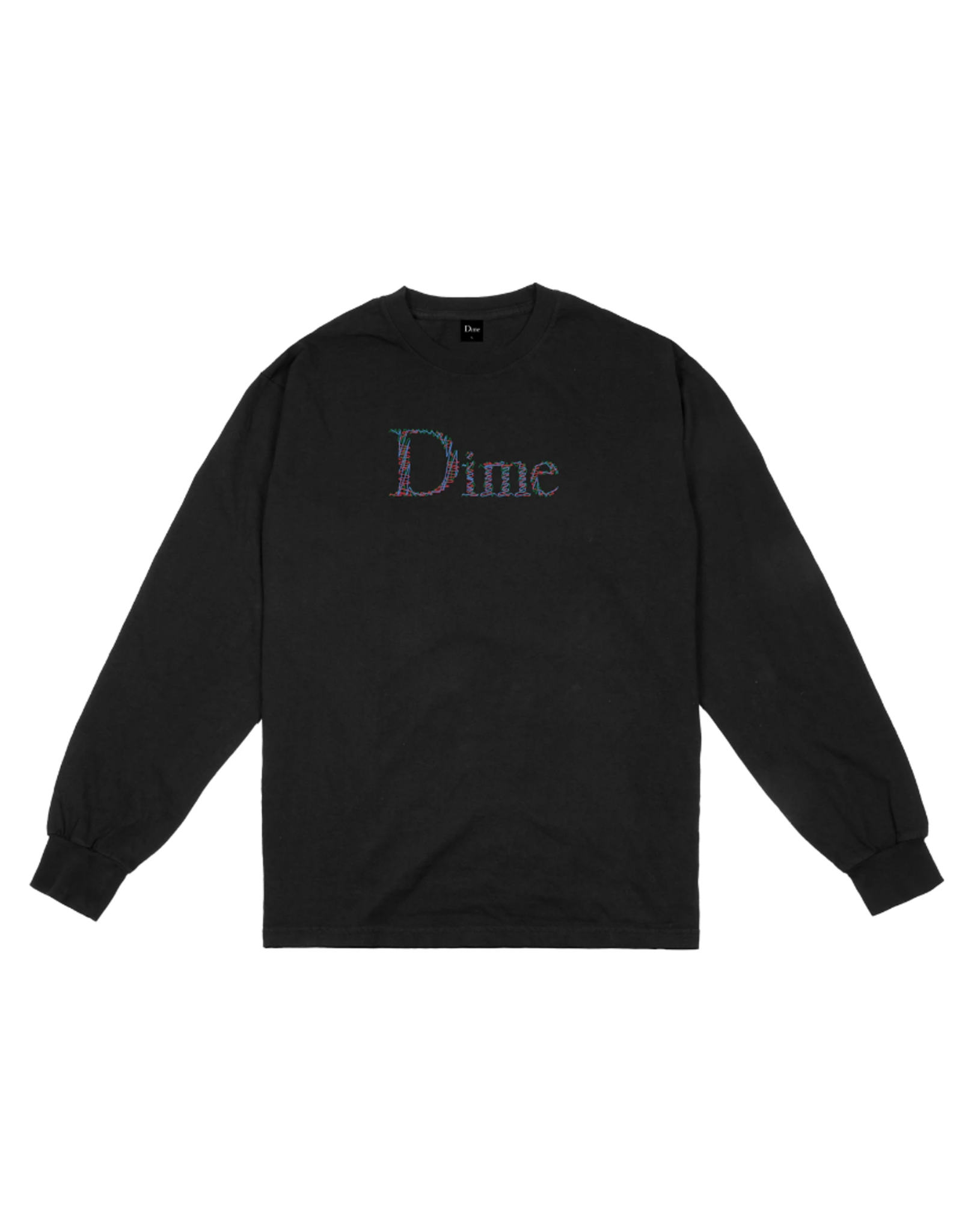 Dime Scribble Classic Logo L/S Shirt - Black