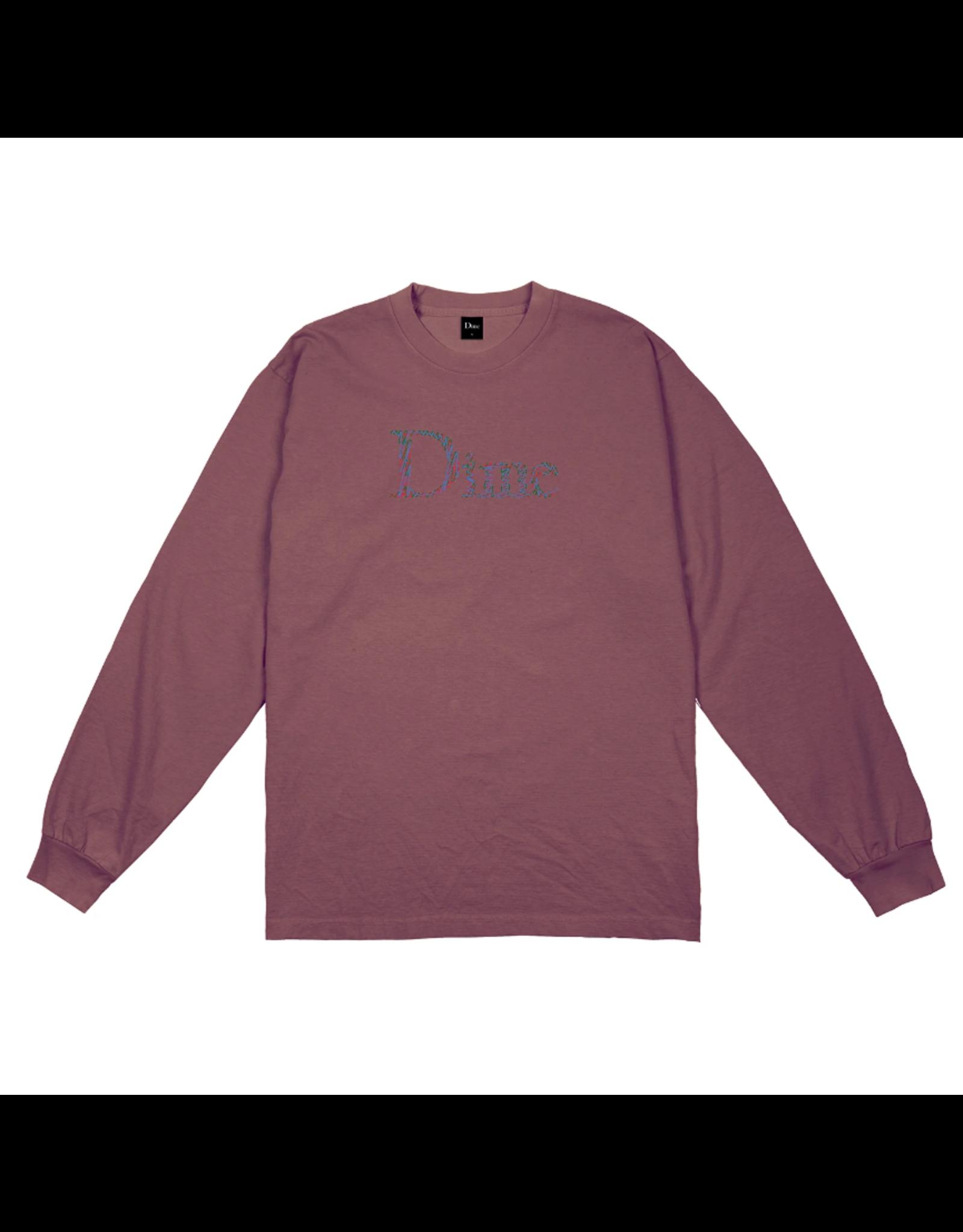 Dime Scribble Classic Logo L/S Shirt - Mauve
