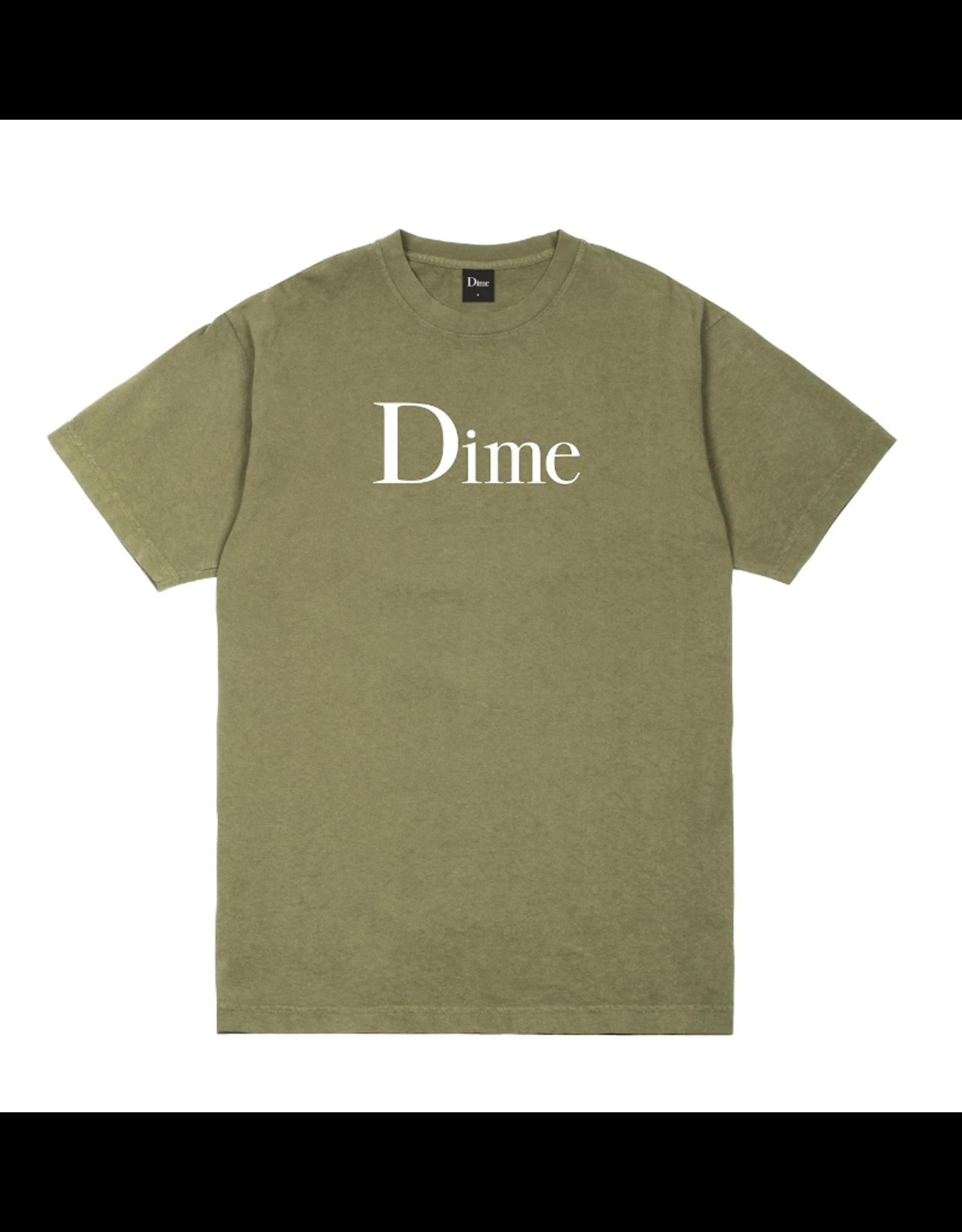 Dime Classic Logo T-Shirt - Washed Khaki