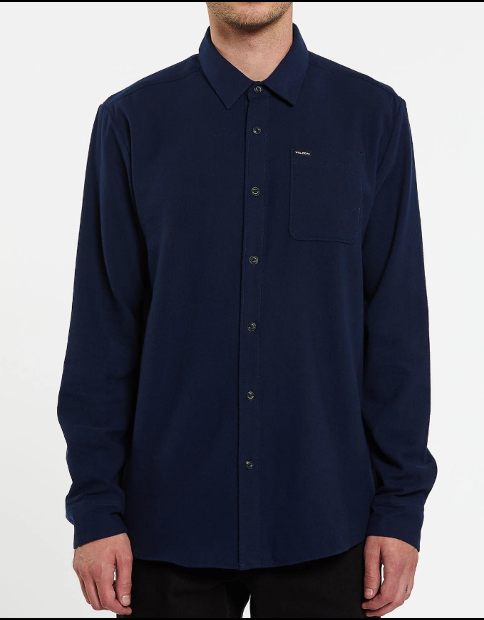 Volcom Caden Solid L/S Shirt - Navy