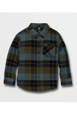 Volcom Caden Plaid L/S Flannel - Military