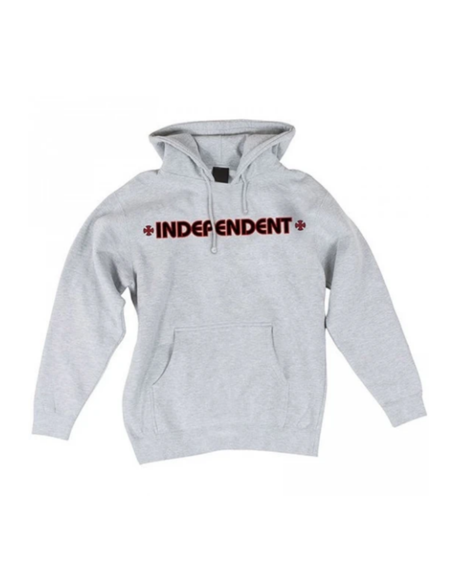 Independent Bar/Cross Hoodie - Heather Grey