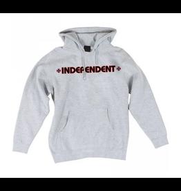 Independent Bar/Cross Hoodie - Heather Grey