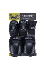 187 Adult Six Pack Pad Set - Black