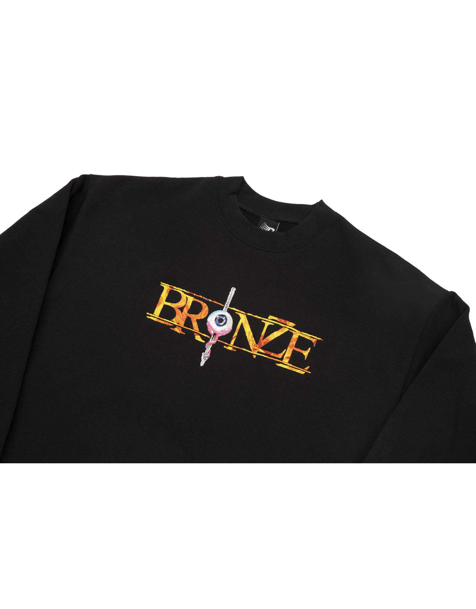 Bronze56K Always Hard Embroidered Crewneck - Black
