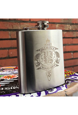 Palm Isle Crest Flask - Silver