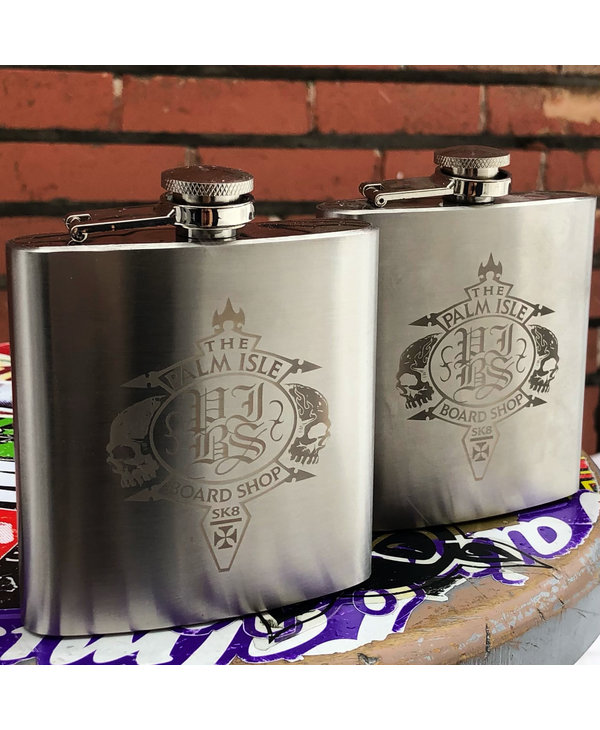 Crest Flask - Silver