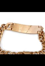 Baker 18K Gold Plating ID Bracelet