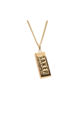 Baker Curb Wax 24K Gold Necklace