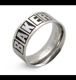 Baker Brand Logo Silver Ring