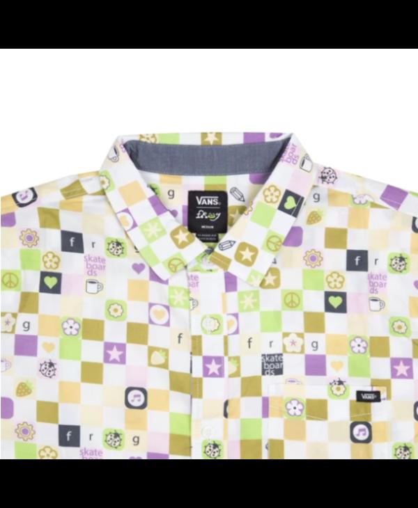 x Frog Skateboards Short Sleeve Button Shirt - White