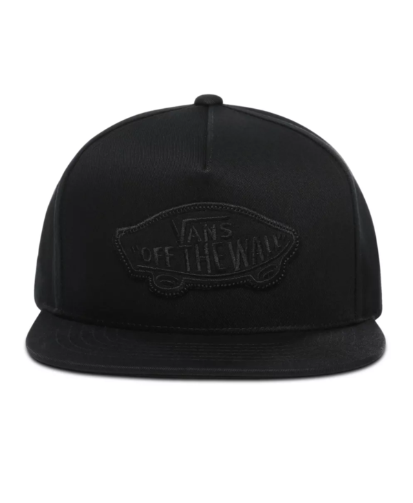 Classic Patch Snapback Cap - Black/Black