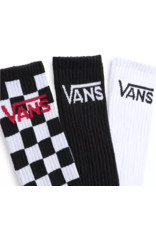 Vans Classic Crew Socks 3 Pack - Assorted Checkerboard