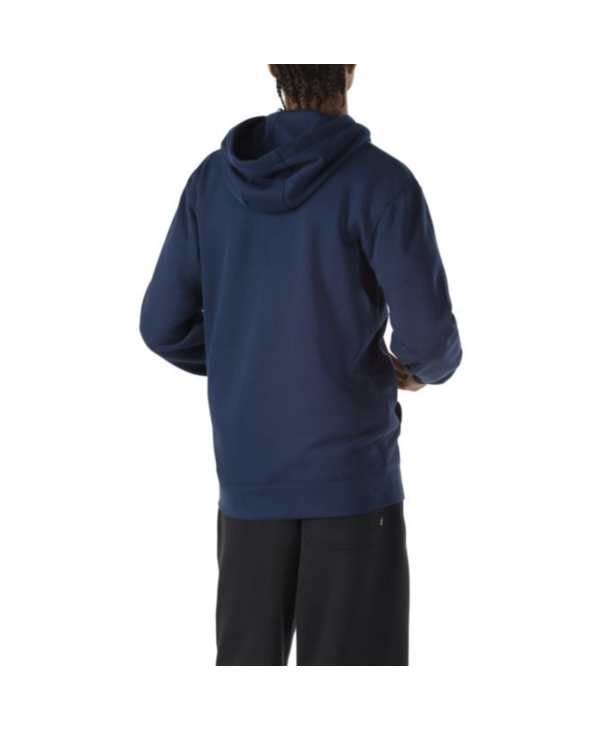 Retro Oval Pullover Hoodie - Dress blue