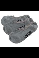 Vans Classic Super No Show Socks 3 Pack - Heather Grey