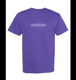 Metronome Topographic Logo T-Shirt - Purple