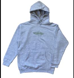 Metronome Topographic Logo Hoodie - Ash Grey