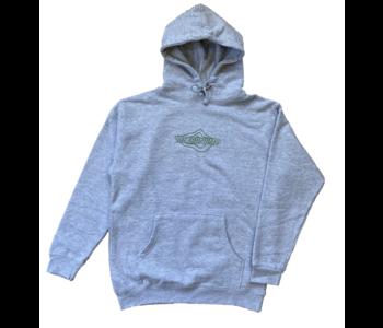 Topographic Logo Hoodie - Ash Grey