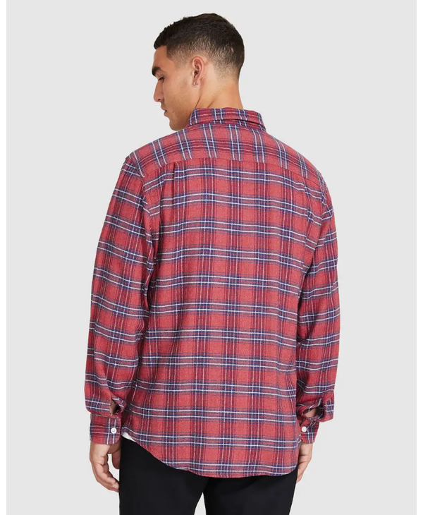 Bowery Lightweight L/S Flannel - Cowhide
