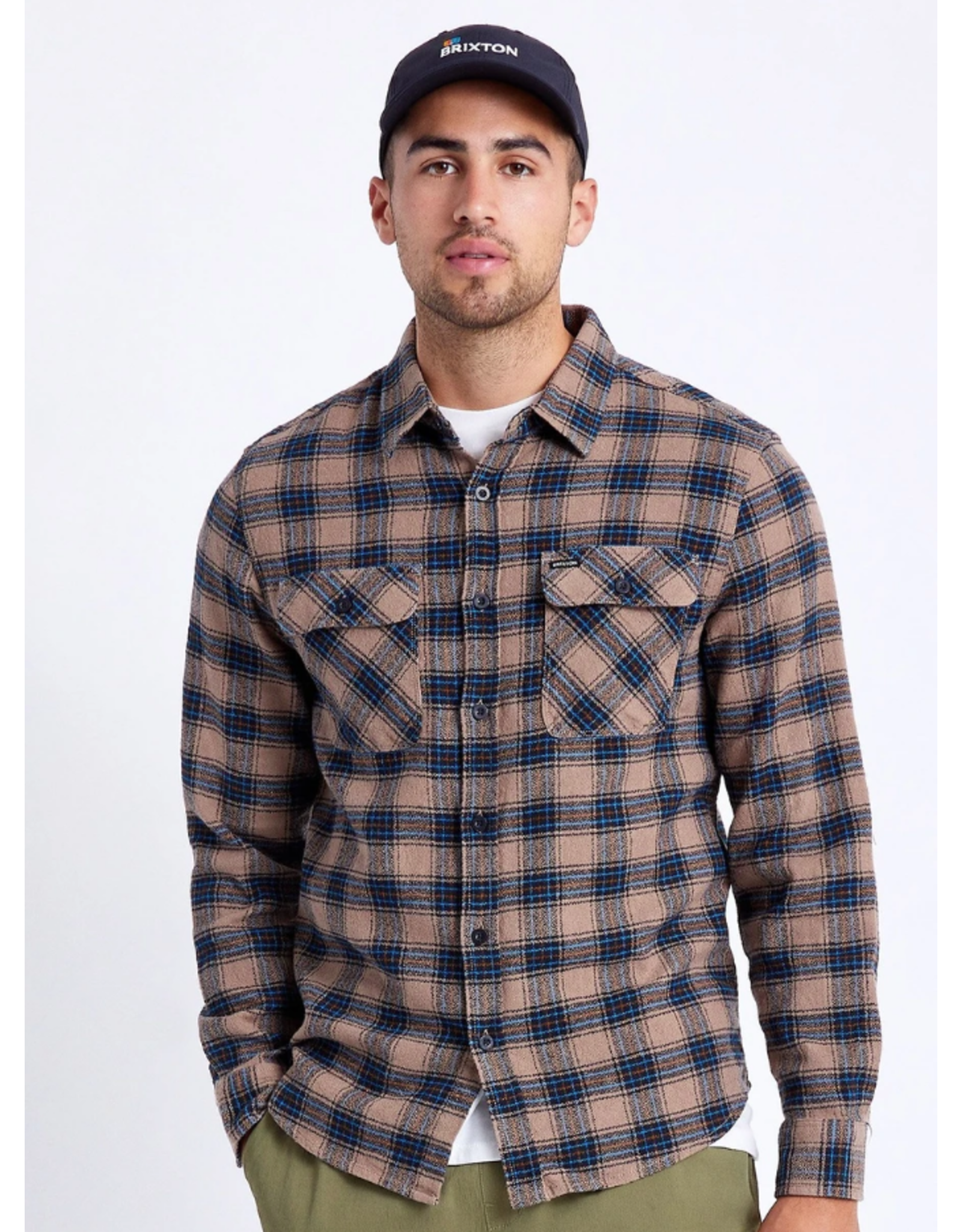 Brixton Bowery Lightweight L/S Flannel - Pine Bark