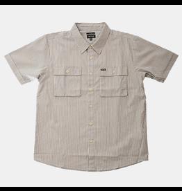 Brixton Talus Woven S/S Shirt - Vanilla/Joe Blue