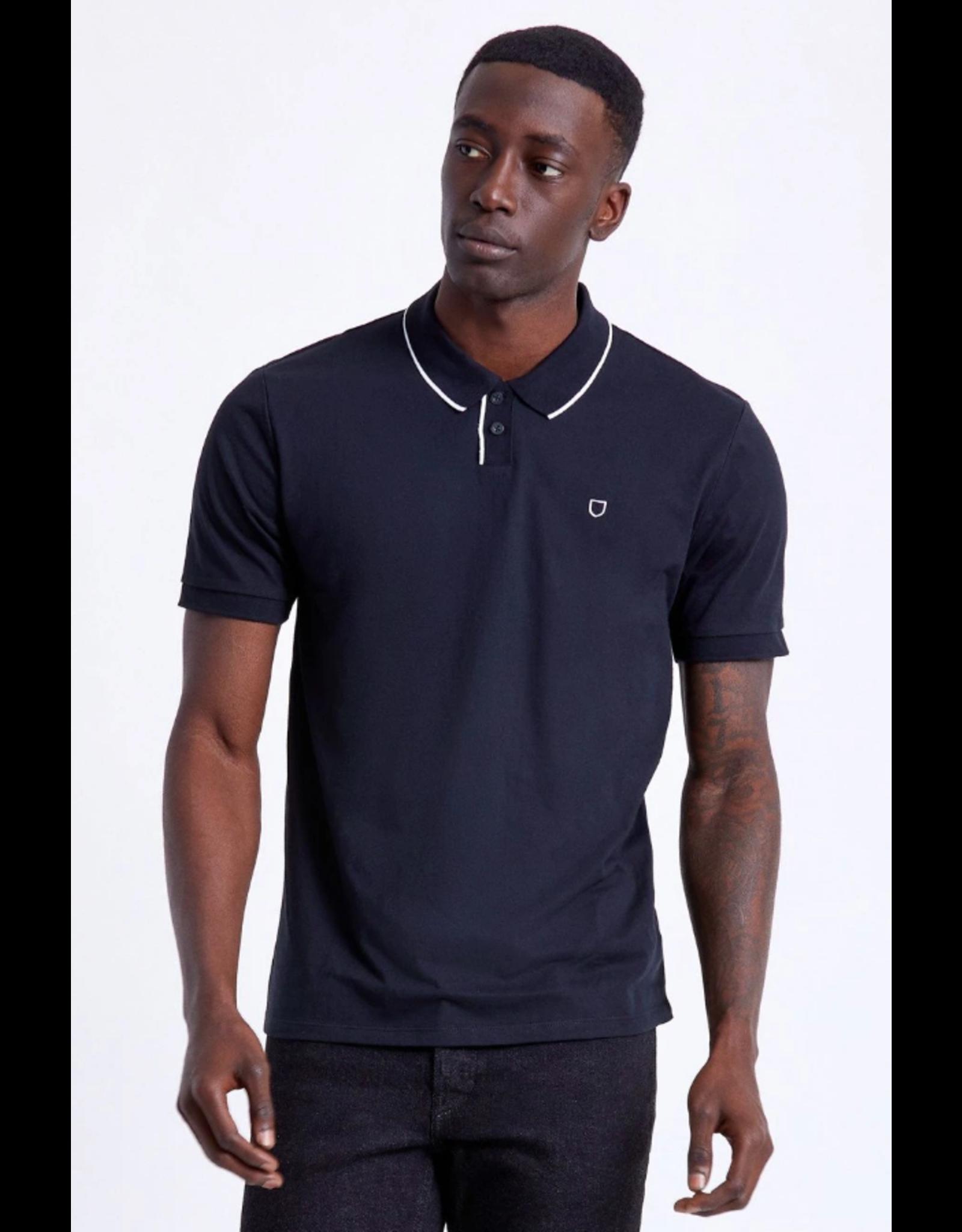 Brixton Proper S/S Jersey Polo Knit - Black