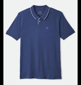 Brixton Proper S/S Jersey Polo Knit - Blue