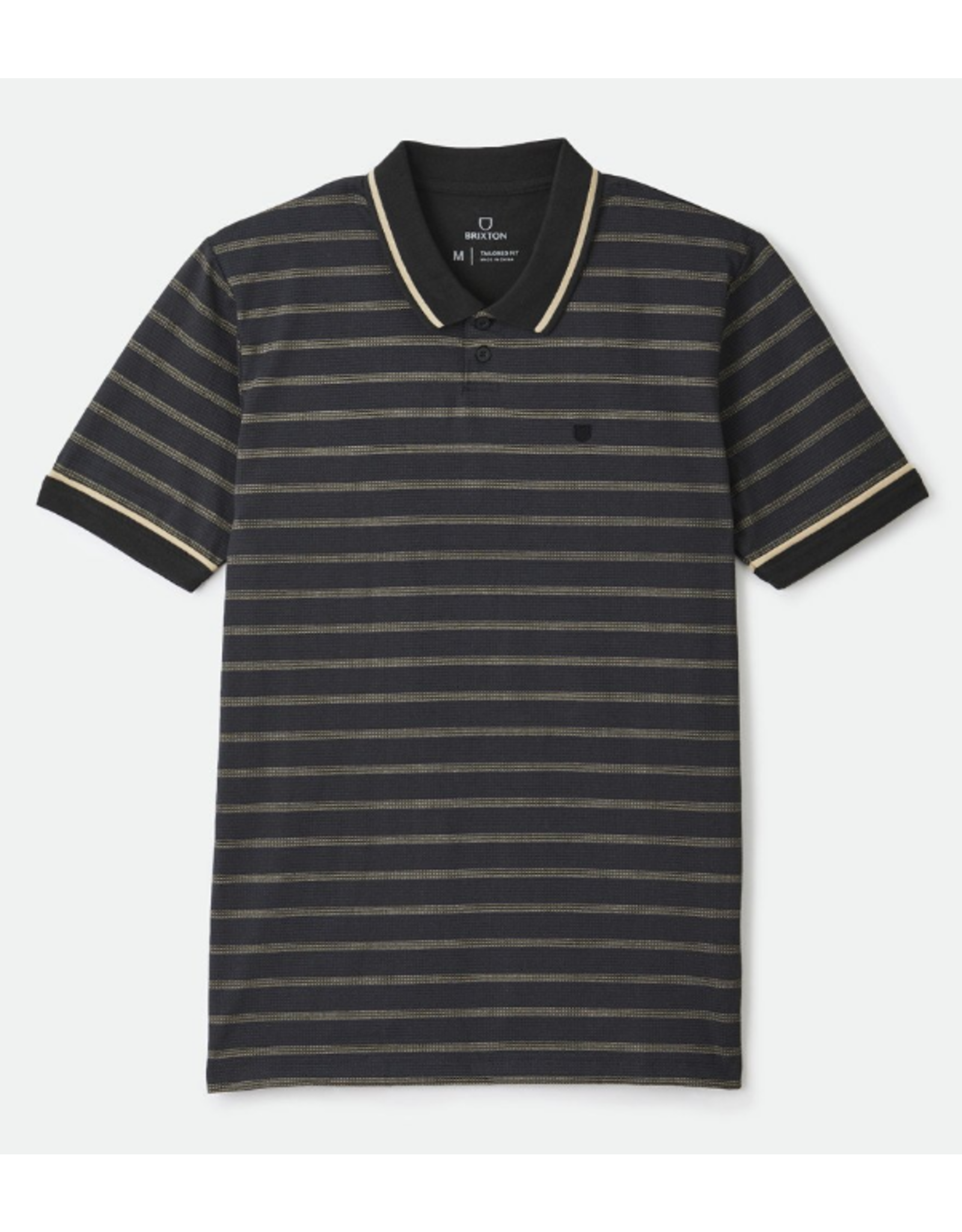 Brixton Proper S/S Jersey Polo Knit - Washed Black