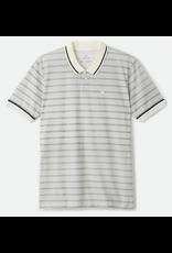 Brixton Proper S/S Jersey Polo Knit - Off White/Blk