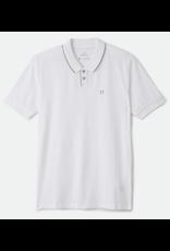 Brixton Proper S/S Jersey Polo Knit - White/Grey