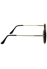 Glassy Lincoln Premium Polarized Shades - Black/Gold