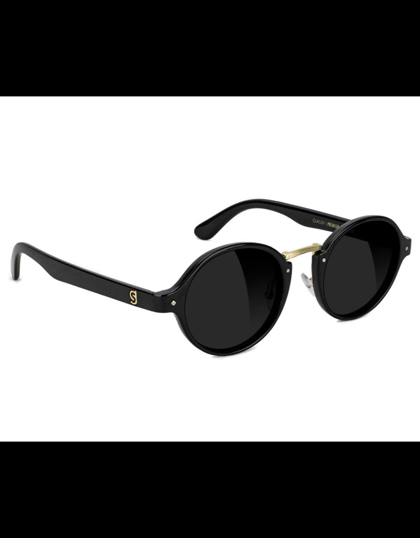 Glassy Prod Premium Polarized Shades - Black/Gold