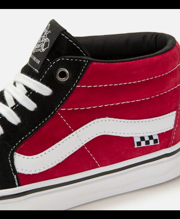 Skate Grosso Mid - Black/Red