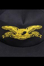 AntiHero Basic Eagle Snapback - Navy/Yellow