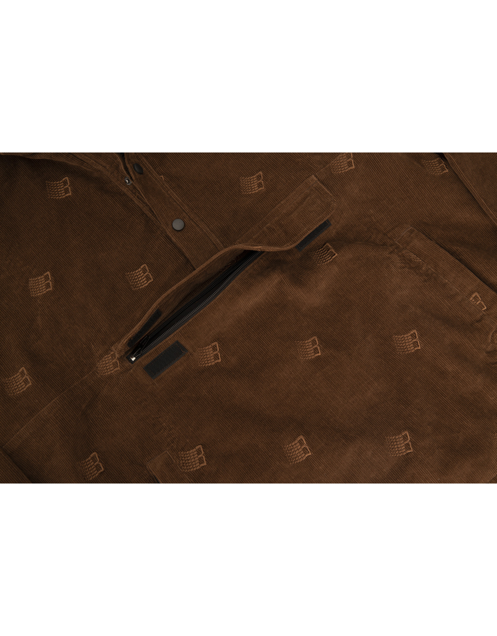Bronze56K Allover Embroidered Anorak - Brown