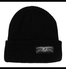 AntiHero Stock Eagle Label Cuff Beanie - Black