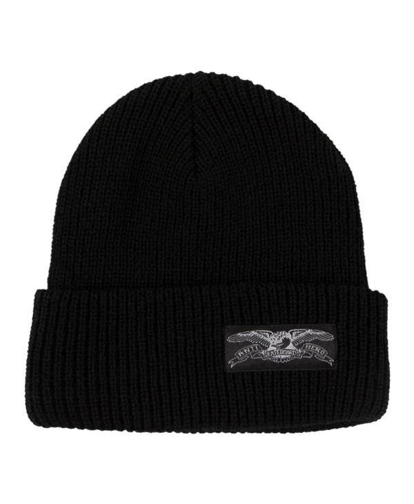 Stock Eagle Label Cuff Beanie - Black