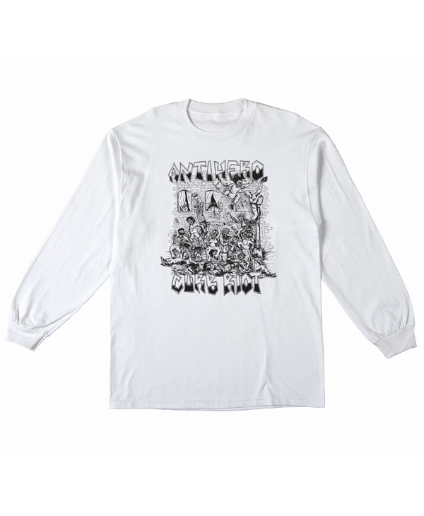 Curb Riot Longsleeve - White