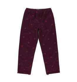 Bronze56K Allover Embroidered Pant - Maroon