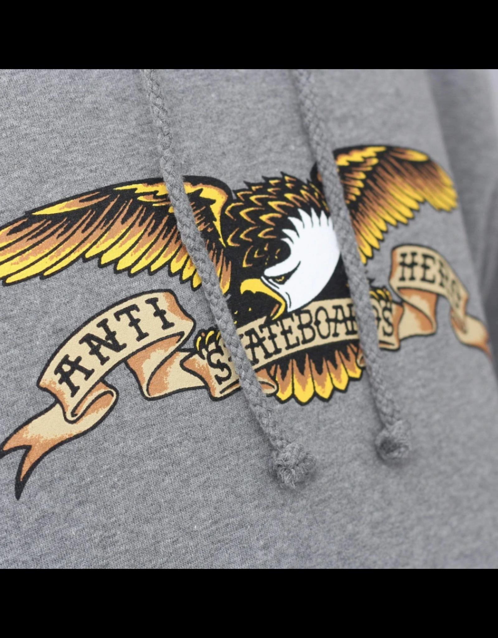 AntiHero Eagle PO Hood - Heather Grey