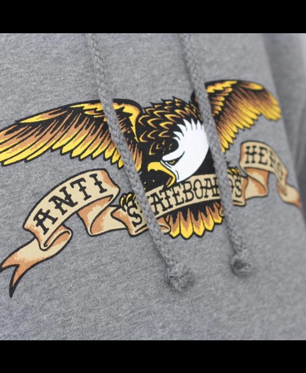 Eagle PO Hood - Heather Grey