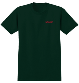 Krooked Moon Smile Raw T-Shirt - Forrest Green