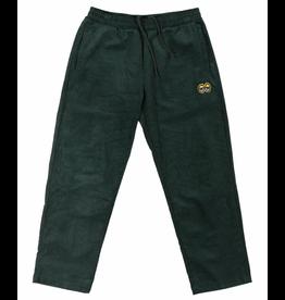 Krooked Eyes Elastic Waist Corduroy Pant - Dark Green