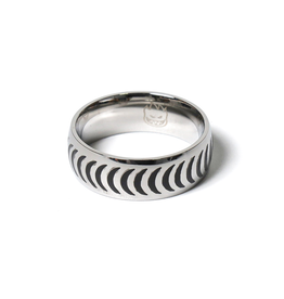 Spitfire Stainless Steel Crescent Ring