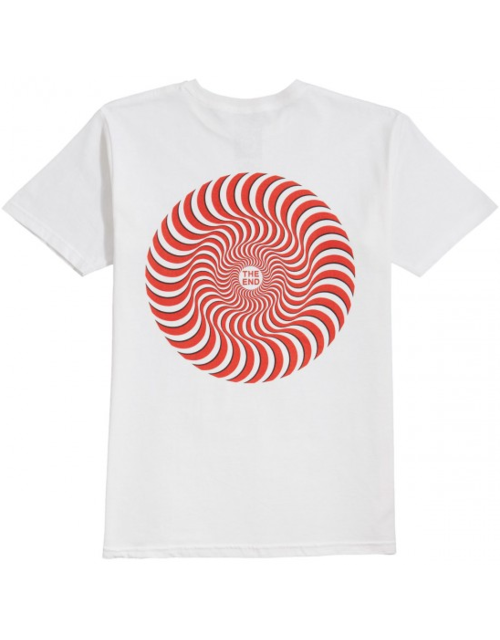 Spitfire Classic Swirl Overlay T-Shirt - White/Red