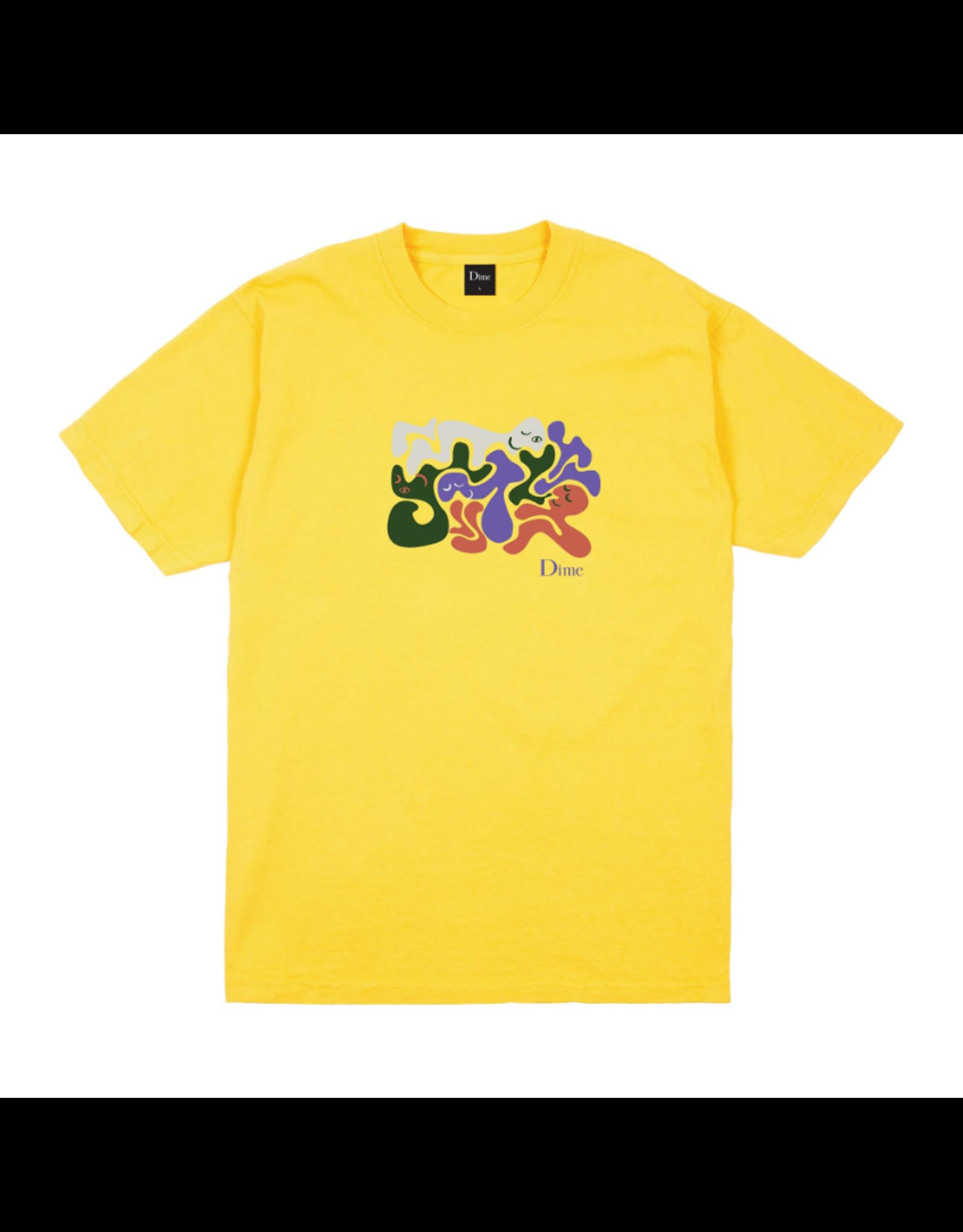 Dime Laying T-Shirt - Yellow